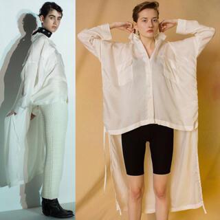 Ameri VINTAGE - ✴︎定価3.8万 LEINWANDE ラインヴァンド ロングシャツ ホワイト 白