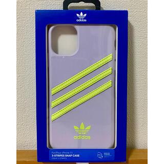 アディダス(adidas)の* adidas アディダス * ケース iPhone 11 * パープル *(iPhoneケース)
