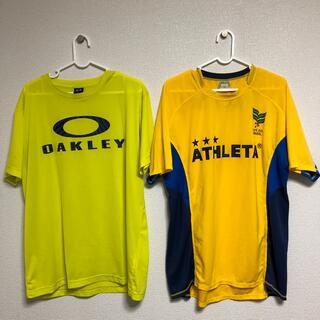 ATHLETA - お買得 黄色いTシャツ2点セット オークリーXL アスレタO