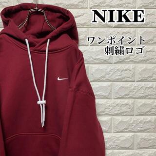 NIKE - 【NIKE】美品 ワンポイント刺繍ロゴ プルオーバーパーカー ナイキ