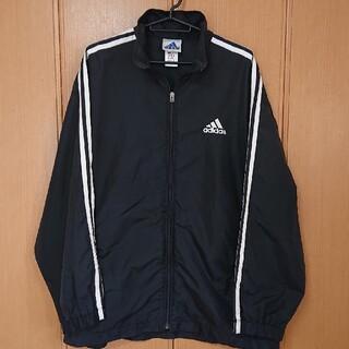 adidas - 【難有り】adidas ナイロンジャケット ブラック  L