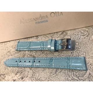 アレッサンドラオーラ(ALESSANdRA OLLA)の★ 新品 Alessandra Olla 本革 時計ベルト 16mm 空色(腕時計)