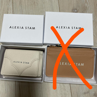 ALEXIA STAM - 新品未使用 アリシアスタン    ロゴミニウォレット&カードケース