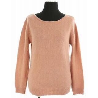 アプワイザーリッシェ(Apuweiser-riche)のアプワイザーリッシェ バックリボンふわふわニット セーター 長袖 2 ピンク(ニット/セーター)