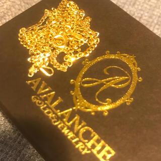 アヴァランチ(AVALANCHE)の10k ネックレス イエローゴールド マイアミキューバンチェーン 幅約2ミリ(ネックレス)