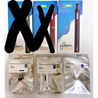 プルームテック(PloomTECH)のプルームテックプラス ploom TECH+ 新品 マウスピース付き(タバコグッズ)