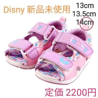 ディズニー(Disney)の新品 未使用 タグ付!ディズニー キッズ サンダル14cm ピンク(サンダル)