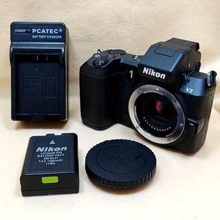 Nikon - ニコン ミラーレス一眼カメラ Nikon 1 V2 ボディ 黒