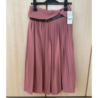Maison de FLEUR - メゾンドフルール カノン ベルト付きプリーツスカート ピンク