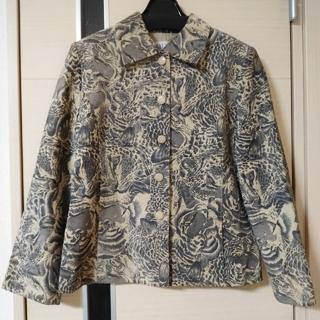 バルマン(BALMAIN)のBALMAIN 革ジャケット 本革 虎柄 豚革 レザージャケット(その他)