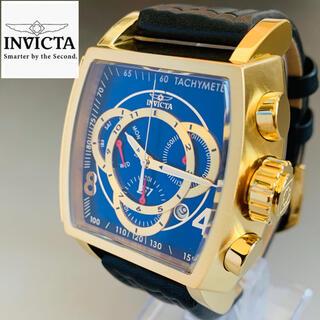 インビクタ(INVICTA)の定価14万円【新品】インビクタ 腕時計 ゴールド レザーベルト クォーツ メンズ(腕時計(アナログ))
