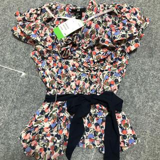 エイチアンドエイチ(H&H)のH&M トップス フリル ブラウス タグ付き(シャツ/ブラウス(半袖/袖なし))