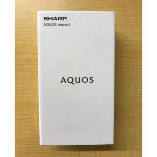 アクオス(AQUOS)の(美品 未使用)SHARP AQUOS Sense4 SH-M15 ブラック(スマートフォン本体)