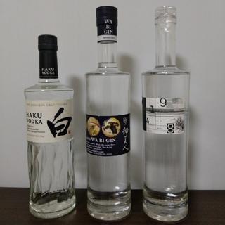 Itohy1様専用)クラフトジン、ウォッカ3本セット(値引、バラ売り不可)(蒸留酒/スピリッツ)