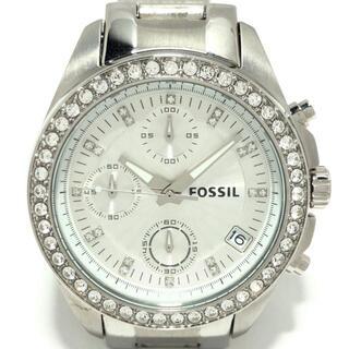 フォッシル(FOSSIL)のフォッシル - ES2681 レディース シルバー(腕時計)