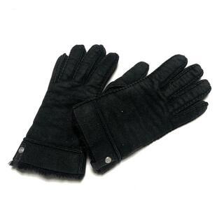 アグ(UGG)のUGG(アグ) レディース - 黒 ムートン(手袋)
