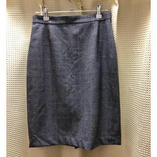 インディヴィ(INDIVI)のINDIVI グレンチェック タイトスカート (ひざ丈スカート)