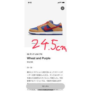 ナイキ(NIKE)のsb dunk low pro wheat and Purple(スニーカー)
