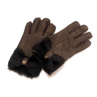 アグ(UGG)のUGG(アグ) S レディース - ダークブラウン(手袋)