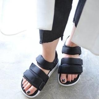 アディダス(adidas)のアディダス♡アディレッタ♡ブラック(サンダル)