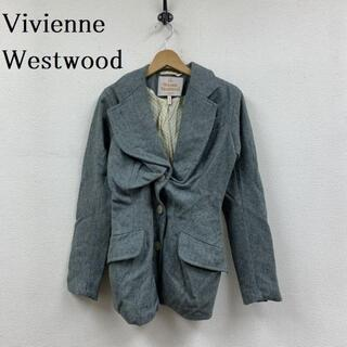 ヴィヴィアンウエストウッド(Vivienne Westwood)のVivienne Westwood クロップト 変形 ウール ジャケット ジャケ(テーラードジャケット)