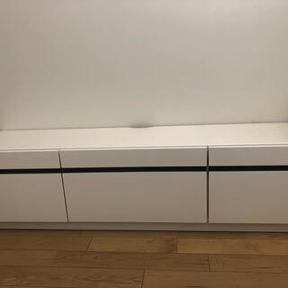 TVボード ホワイト W150cm×H39cm×D35cm (リビング収納)