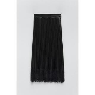ザラ(ZARA)のレザー風プリーツスカート(ロングスカート)