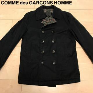 COMME des GARCONS HOMME PLUS - コムデギャルソンオム 裏地ウール千鳥柄ピーコート AD2003 Pコート
