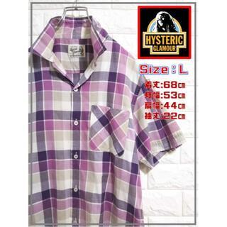 ヒステリックグラマー(HYSTERIC GLAMOUR)のヒステリックグラマー 半袖チェックシャツ SS1888(シャツ/ブラウス(半袖/袖なし))