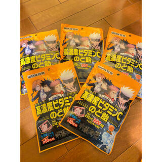 ユーハミカクトウ(UHA味覚糖)の【激レア】呪術廻戦 のど飴 シール付き 5袋セット☆(菓子/デザート)