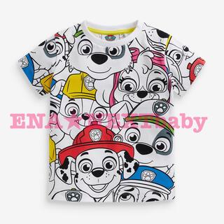 NEXT - ●ホワイト パウパトロール ラージ総柄 半袖Tシャツ