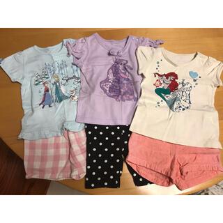ディズニー(Disney)のプリンセスパフスリーブ半袖Tシャツ&ボトムス 計6点セット(Tシャツ/カットソー)