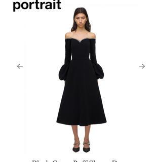セルフポートレイト(SELF PORTRAIT)のセルフポートレート Black Crepe Puff Sleeve Dress(ロングワンピース/マキシワンピース)