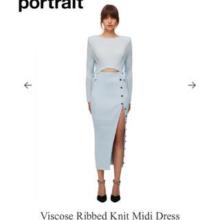 セルフポートレイト(SELF PORTRAIT)のセルフポートレート Viscose Ribbed Knit Midi Dress(ロングワンピース/マキシワンピース)