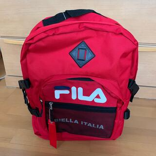 FILA - FILA リュック 赤色 新品未使用