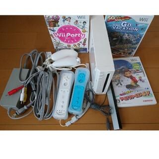 Wii - Wii本体コントローラ2つWiiパーティーなど