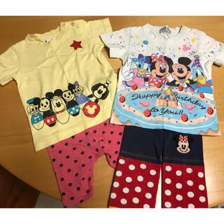 ディズニー(Disney)のミッキーフレンズ半袖Tシャツ&ボトムス 計4点(Tシャツ/カットソー)