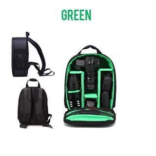 カメラバッグ(リュック) グリーン 掃除キット付 IT015(ケース/バッグ)