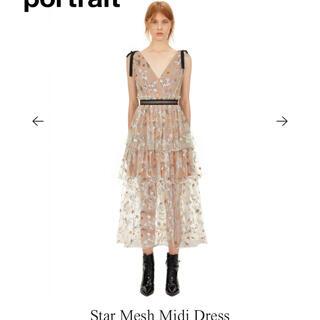 セルフポートレイト(SELF PORTRAIT)のセルフポートレート Star Mesh Midi Dress(ロングワンピース/マキシワンピース)