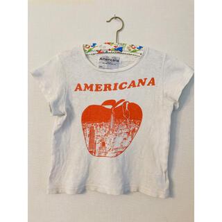 ビューティアンドユースユナイテッドアローズ(BEAUTY&YOUTH UNITED ARROWS)のBK Americana アップルプリントTシャツ 120cm(Tシャツ/カットソー)