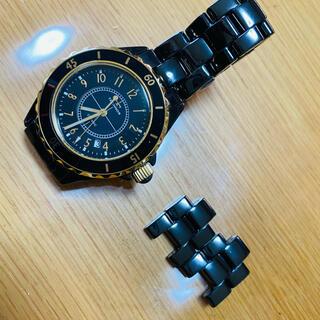TECHNOS - テクノスTECHNOS J12タイプ ブラック セラミック クオーツ メンズ