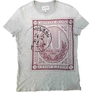 アルマーニジーンズ(ARMANI JEANS)のAJ ARMANI JEANS Print S/S Tee プリント入り 半袖(Tシャツ/カットソー(半袖/袖なし))