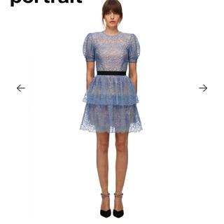セルフポートレイト(SELF PORTRAIT)のセルフポートレート Blue Flower Sequin Mini Dress(ロングワンピース/マキシワンピース)