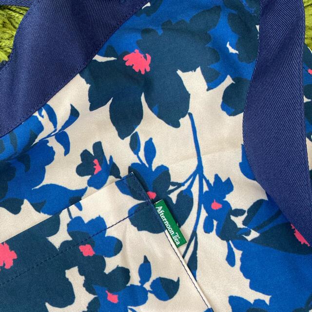 AfternoonTea(アフタヌーンティー)のアフタヌーンティー ビビットフラワー 花柄 エプロン ブルー  インテリア/住まい/日用品のキッチン/食器(その他)の商品写真