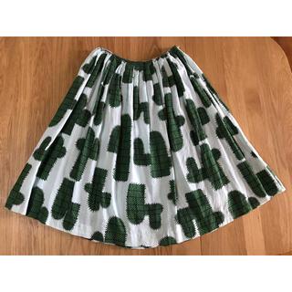 mina perhonen - ミナペルホネン cuctus スカート サボテン柄 36サイズ リネン