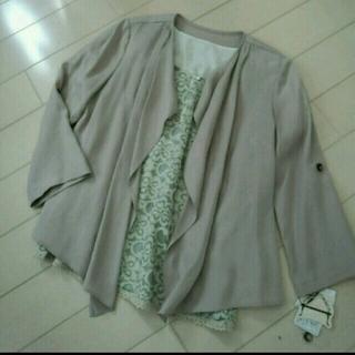 スリーフォータイム(ThreeFourTime)のタグ付き☆薄手のジャケット(ノーカラージャケット)