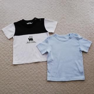 Tシャツ(水色)80 &(白黒)90(Tシャツ)
