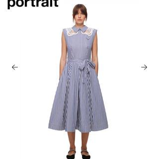 セルフポートレイト(SELF PORTRAIT)のEmbroidered Stripe Cotton Midi Dress(ロングワンピース/マキシワンピース)