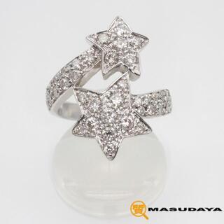 ダイヤモンドコメットスターリングK18WG/D1.19ct/6.93g【美品】(リング(指輪))