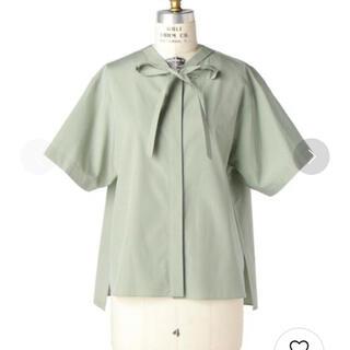 Drawer - 送料無料!美品 ドゥロワー コットンリボンショートスリーブシャツ 36